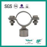 Tipo redondo sanitario instalación del acero inoxidable de tuberías del sostenedor del tubo
