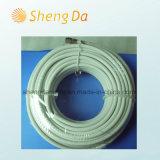 Cable coaxial blanco del blindaje estándar RG6 para CATV