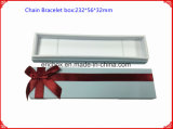 Rectángulo de joyería del Libro Blanco de la alta calidad con la cinta