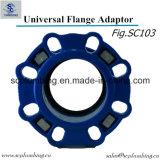Universel de pipe de PVC UPVC de PE de couplage d'adaptateur de bride