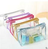Sac imperméable à l'eau transparent de produit de beauté de sac de mémoire de sac d'embrayage de nécessaires d'article de toilette de PVC
