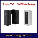 Appareil-photo visuel de sonnette de WiFi sec de garantie à la maison construit dans la batterie 3000mAh