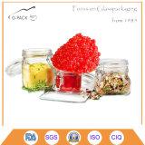 vaso di vetro del caviale 30ml con la protezione del metallo, contenitore del caviale, vasi d'inscatolamento del caviale
