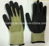 Перчатка безопасности волокна Aramid 18 датчиков с стеклянным волокном (K3053)
