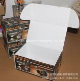 Boîte ondulée plate de couleur d'impression d'OEM/carton d'expédition/boîte aux lettres