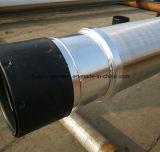 Aus 304/316 de tela contínua do envoltório do fio com linha/flange/solda
