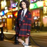 Blazer élégant de laines d'uniforme scolaire de l'hiver de plaid de modèle