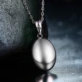 1.80CT楕円形は自然な紫色の紫色の楕円形の女性の良い宝石類のための形のペンダントのネックレス925の純銀製を切る