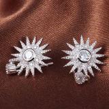 Cristallo Girasole-A forma di dell'intarsio degli orecchini dell'argento sterlina di modo 925 delle donne