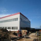 クレーンが付いている安定した鉄骨構造の金属製造の研修会1000平方メートルの