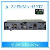 Récepteur satellite combiné neuf de H. 265/Hevc Zgemma H5.2tc avec des doubles tuners de DVB-S2+ 2*DVB-T2/C