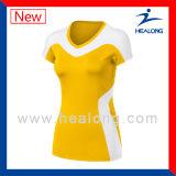 Healong最新のデザイン女性チームのバレーボールジャージー