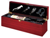 Коробка подарка упаковывать/представления вина отделки рояля Rosewood деревянная с инструментами