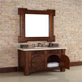 Moderner festes Holz-Fußboden-stehende Badezimmer-Eitelkeit