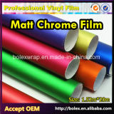 Пленка винила обруча автомобиля крома Matt цветов материала PVC, ширина 1.52m