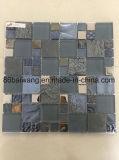 Het natuurlijke Opgepoetste Marmeren Mozaïek van het Glas van het Kristal voor het Binnenlandse Ontwerp van de Vloer