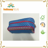 Form Blue Stripe Microfiber Cosmetic Bag mit Full Printing