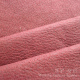 Tissu en cuir de somme de suède de polyester d'estampage d'or pour le sofa