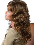 긴 컬 합성 Kanekalon 여자 U 부속 가발 자연적인 긴 가발