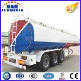 3 da linha central 50cbm de carbono de aço do líquido inflamável da carga de petroleiro do caminhão reboque de serviço público Semi com silo 4