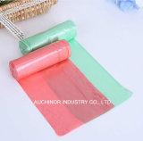 着色されたプラスチック使い捨て可能な車の屑のごみ袋
