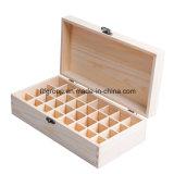 Caixa de armazenamento de madeira ecológica elegante com compartimentos