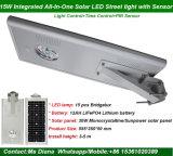 1개의 태양 LED 가로등에서 싼 가격 IP65 15W 전부