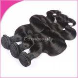 ボディ波のカンボジアのバージンの毛の拡張毛のよこ糸の毛
