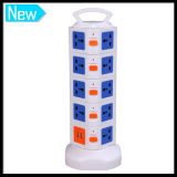 5 strati Multi Vertical Power Switch Socket con 2 il USB Port