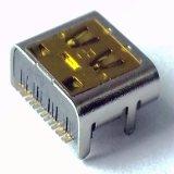 USB2.0 de Vrouwelijke Schakelaar van het type C voor de Bank van de Macht & Macht Smartphone