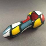 Tubulações de fumo de vidro coloridas da mão com a tubulação 4.25inch da colher do Spelunker