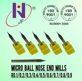 De stevige van de Micro- van het Carbide Molen van het Eind Neus van de Bal