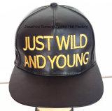 革方法スポーツの帽子によって刺繍される革帽子の都市方法帽子