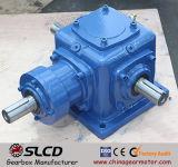 1: 1 motor chanfrado helicoidal montado eixo da caixa de engrenagens do ângulo direito da relação