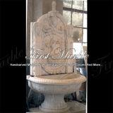 Fonte de parede branca Mf-622 de Carrara da fonte de pedra de mármore do granito
