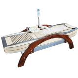 Masaje del vector del colchón del Tourmaline y del jade/mejor base de madera médica china del masaje de la espina dorsal