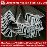 Hierro de ángulo galvanizado del acero suave con técnica caliente del rodillo