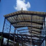 波形の屋根ふきシートが付いている工場製造業者の鉄骨構造の研修会