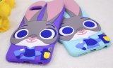 caixa do silicone do telefone móvel de Judy do coelho dos desenhos animados 3D para o iPhone 6s