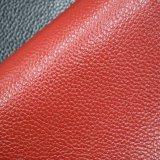 Litchi袋のハンドバッグのための穀物によって浮彫りにされる総合的なPVCスポンジの革