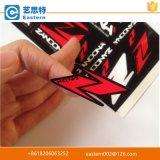 Etiqueta autoadhesiva de encargo, escrituras de la etiqueta adhesivas de encargo de la etiqueta engomada