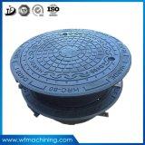 Coperchio di botola duttile rotondo resistente alla corrosione modellato del ghisa del coperchio di botola del pezzo fuso del ferro della sabbia dell'OEM En124 A15 B125 C250 D400 E600 F900