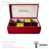 Hongdao Großhandelspreis-chinesischer hölzerner Teebeutel-Speicher-Verpackungs-Kasten mit Fächer _E