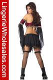 Сексуальный пират Cosplay партии Halloween женщин отрезал вне платье Costume