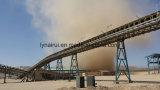 大きい容量の採鉱材料のための曲げられた管状のベルト・コンベヤー