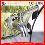 ジュースのための蛇口が付いているガラス水ディスペンサー