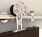 Banheiro Madeira porta deslizante Hardware suspenso Roda