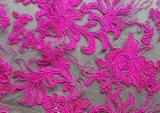 Tela do laço do bordado da alta qualidade das vendas por atacado para o vestido de casamento