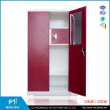 Mingxiu 사무용 가구 2 강철 여닫이 문 내각/2개의 문 금속 옷장