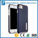 Qualitäts-Hochleistungsdoppelschicht-Metallkasten mit Stander für iPhone 7